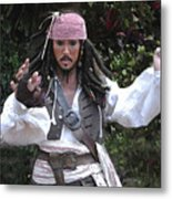 Captain Sparrow Metal Print