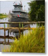 Captains Boat Metal Print