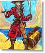 Captain's Treasure Metal Print