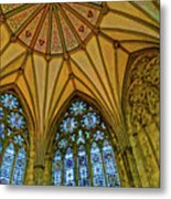 Chapter House Ceiling, York Minister Metal Print