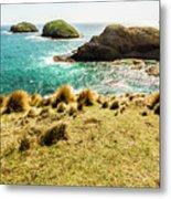 Captivating Coastal Cliff Metal Print