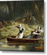 Capture Of The Daughters Of Daniel Boone And Richard Callaway By The Indians Metal Print