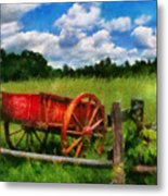 Car - Wagon - The Old Wagon Cart Metal Print