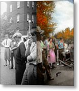 Car - Accident - Late For Tee Time 1932 - Side By Side Metal Print