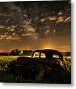Car And The Milky Way Metal Print