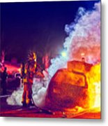 Car Arson  Metal Print