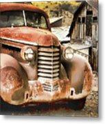 Car Full Of Memories, Ghost Town, Jerome, Arizona Metal Print