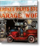 Car - Garage - Cherokee Parts Store - 1936 Metal Print