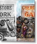 Car - Garage - Cherokee Parts Store - 1936 - Side By Side Metal Print
