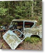 Car Graveyard In Smaland Metal Print