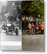 Car - Race - Hold On To Your Hats 1915 - Side By Side Metal Print