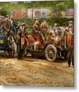 Car - Race - The End Of A Long Journey 1906 Metal Print