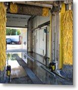 Car Wash Interior Metal Print