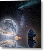 Caravel And Comet Metal Print