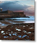 Fort In Carcavelos Beach Metal Print