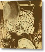 Card Games And Vintage Bets Metal Print