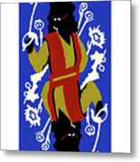 Card Hierarchy Queen Of Hearts Metal Print
