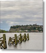 Cardiff Bay Dolphins Metal Print