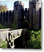 Cardiff Castle Gate Metal Print