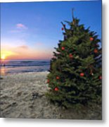 Cardiff Christmas Tree Metal Print