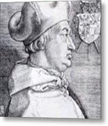 Cardinal Albrecht Of Brandenburg 1523 Metal Print