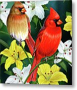 Cardinal Day 2 Metal Print by JQ Licensing