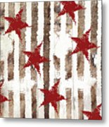 Cardinal Holiday Burlap Star Pattern Metal Print