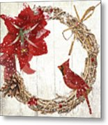 Cardinal Holiday II Metal Print