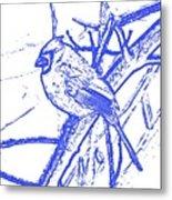 Cardinal Painted Metal Print