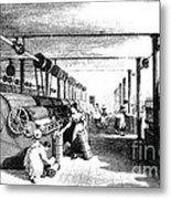 Carding Engine And Drawing Frame, 1835 Metal Print