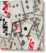 Cards Abstract Metal Print