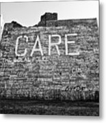 Care Graffiti Building Metal Print