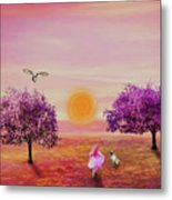 Carefree Childhood Days Metal Print