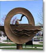 Carferry Sculpture Metal Print
