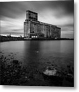 Cargill Grain Lies Quietly On The Shores Of Lake Erie Metal Print