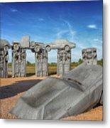 Carhenge Metal Print