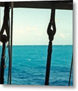 Caribbean From A Square Rigger Metal Print