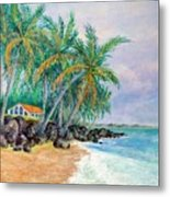 Caribbean Retreat Metal Print