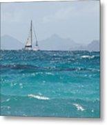 Caribbean Sailing Metal Print