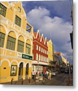Caribbean Shopping District Metal Print