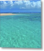 Caribbean Water Metal Print by Scott Mahon