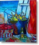 Caribe And Crab Metal Print