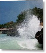 Caribe Splash Metal Print