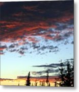 Cariboo Country Sunset   Metal Print