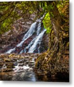 Caribou Falls In Fall Metal Print