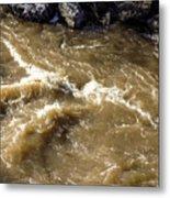 Caribou Stream Rapids Metal Print