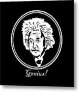 Caricature Of Albert Einstein Genius Metal Print
