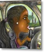 Caricature Ride With Jay Metal Print