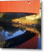 Carleton Covered Bridge Reflection Metal Print
