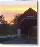 Carlton Covered Bridge Swanzey Nh Sunset Metal Print